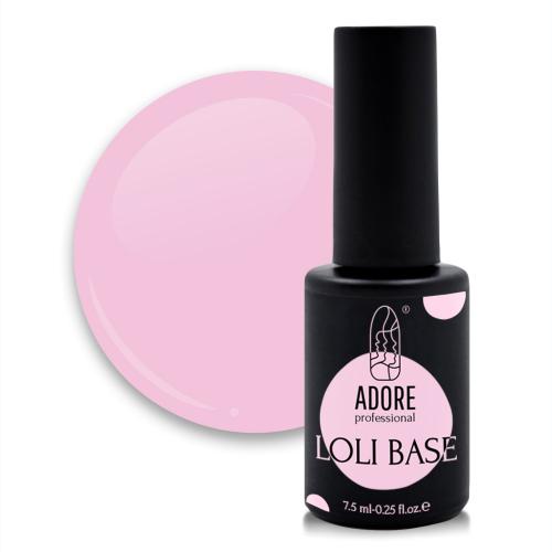 """цветная """"лоли"""" база для ногтей ADORE professional 7,5ml №01 - loli-rose"""