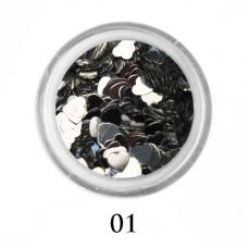 Сердечки для декора ногтей 3 мм №1