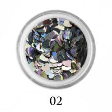 Сердечки для декора ногтей 3 мм №2