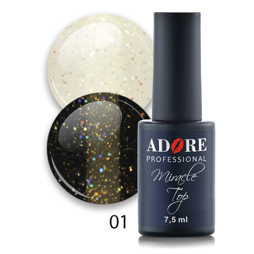 Miracle Top 7,5ml №01 - golographyc glitter