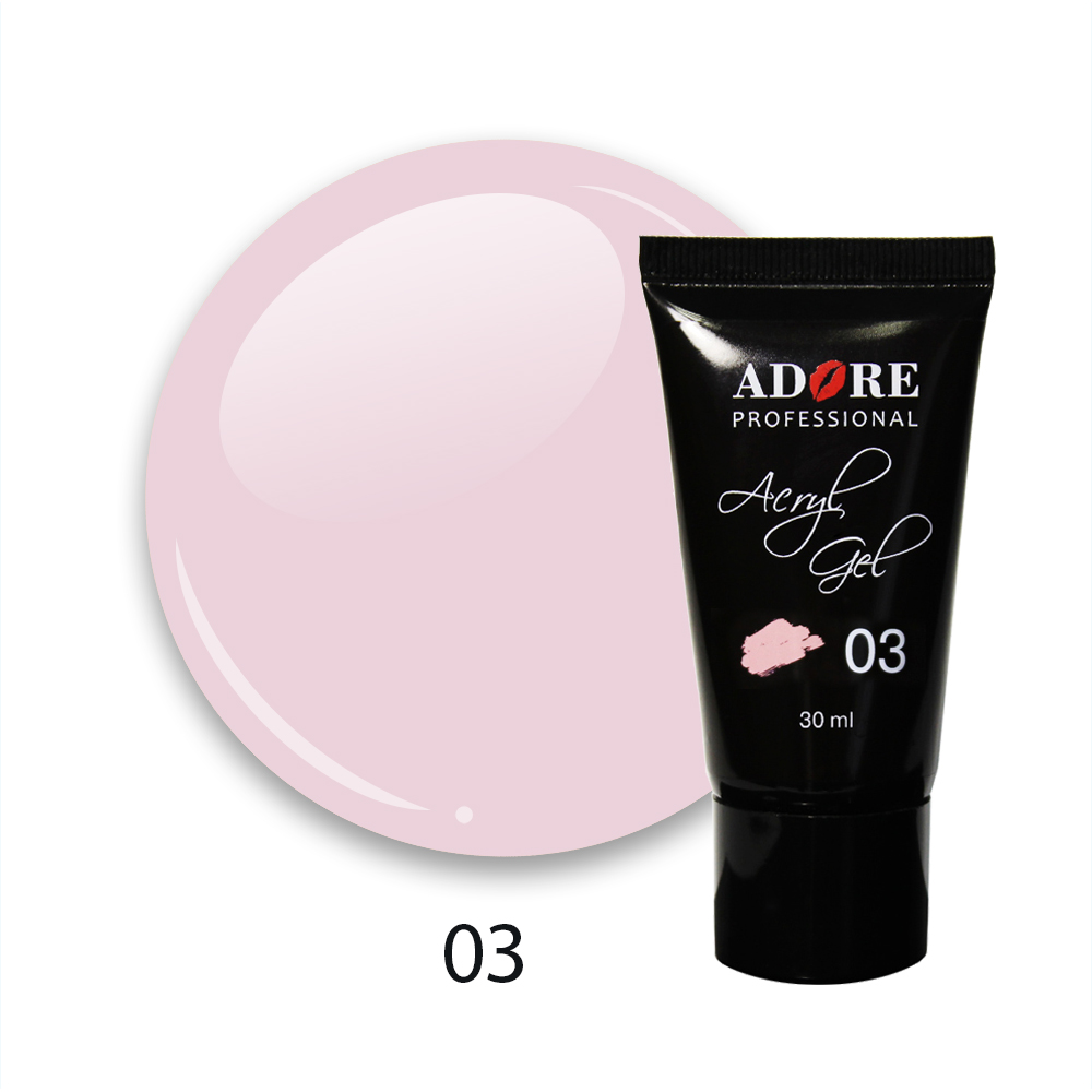 cover acryl gel 30ml №03 - pink